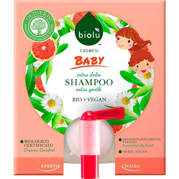 Baby shampoo in tanica